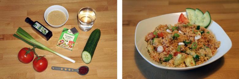 Outdoor Rezept Nr4: Couscous, Gemüse
