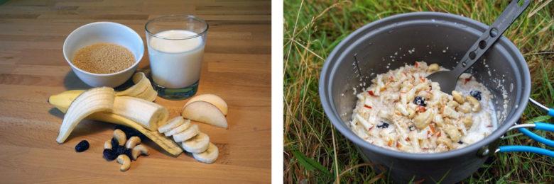 Outdoor Rezept Nr6: Couscous-Griessbrei, Nüsse