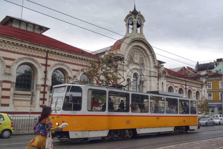 alte Tram in Sofia