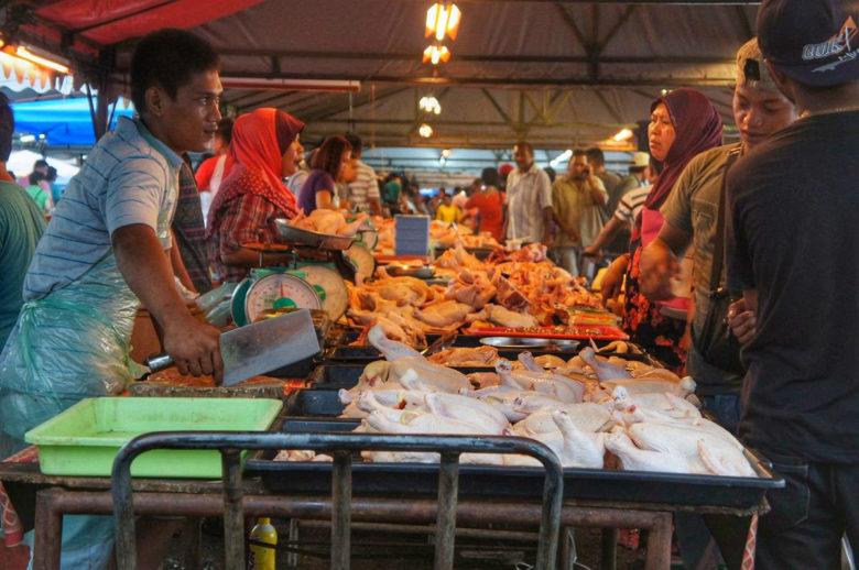 Markt in Kota Kinabalu - Borneo