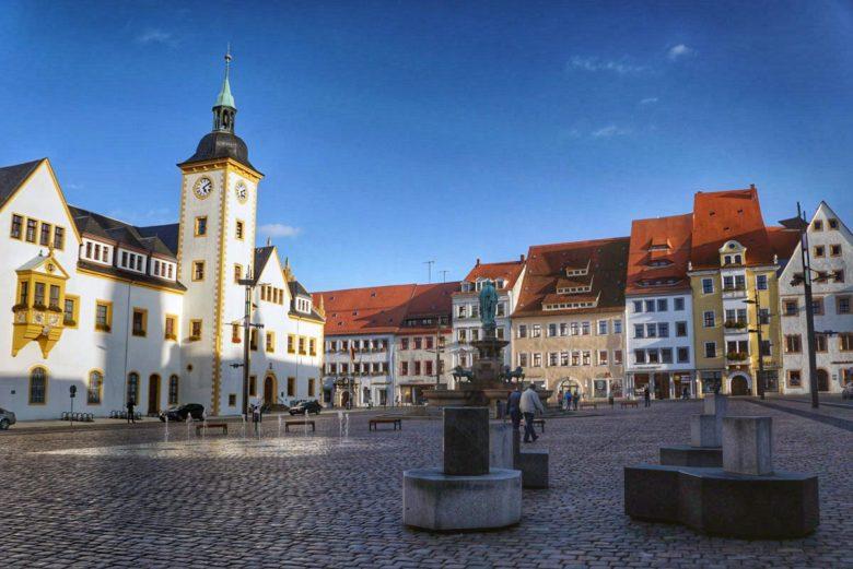 Altstadt Freiberg im Erzgebirge
