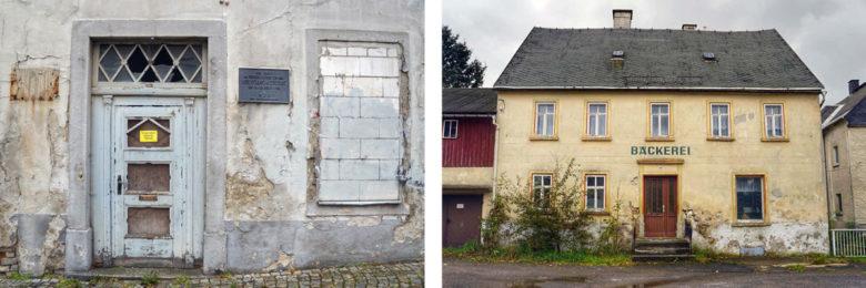 altes Gemäuer und alte Bäckerei im Erzgebirge