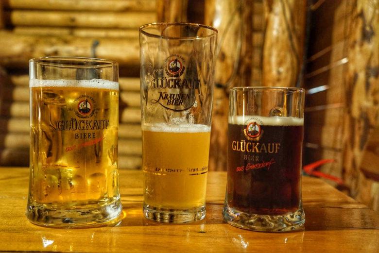 Glückauf-Bier im Erzgebirge