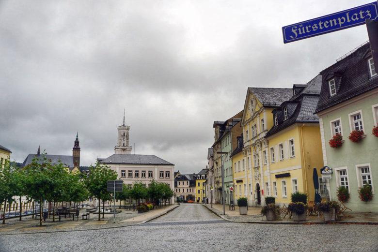 Altstadt Schneeberg im Erzgebirge