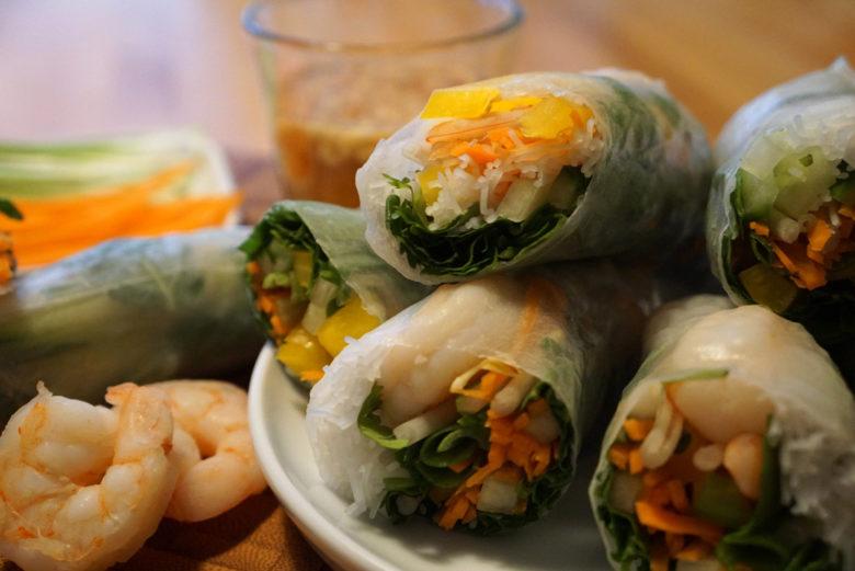 Fresh Spring Rolls aus Laos
