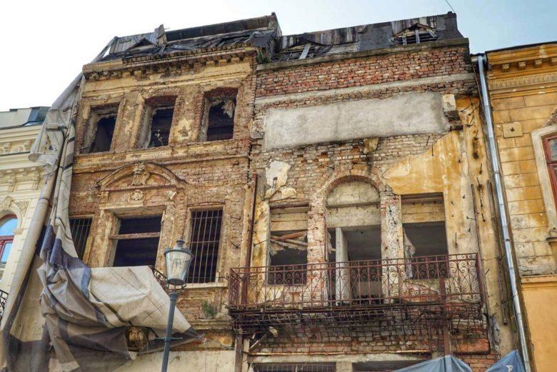 Bukarest Lipscani Altstadt Ruine