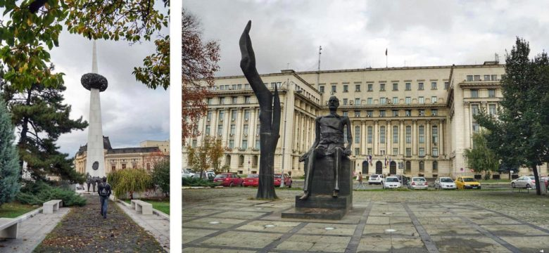 Bukarest Revolutionsplatz und Wiedergeburtsdenkmal