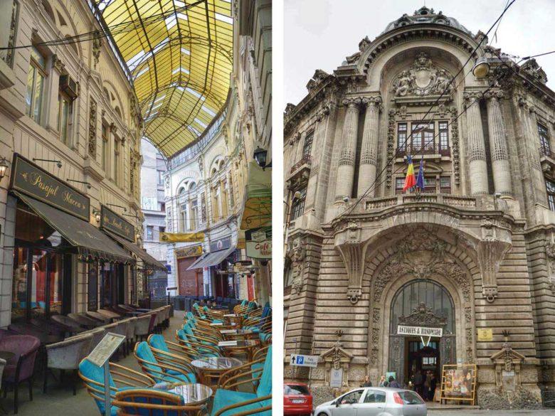 Bukarest Villacrosse Passage und Börsepalast