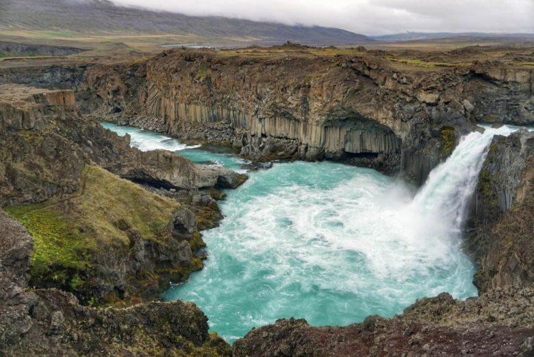 Island Highlights Aldeyjarfoss Wasserfall