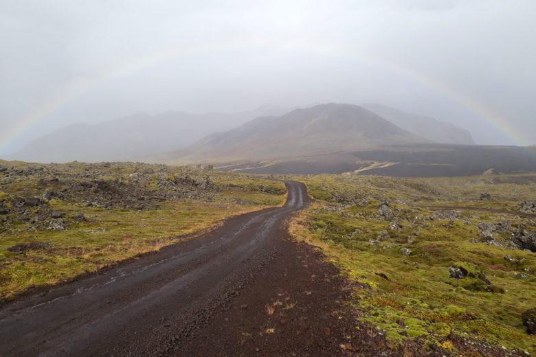 Island Highlights Berserkjahraun Regenbogen