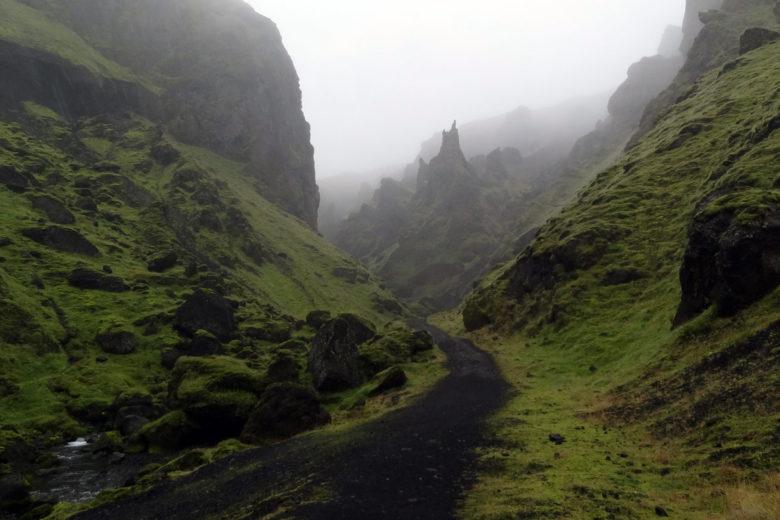 Island Takgil Mooslandschaft