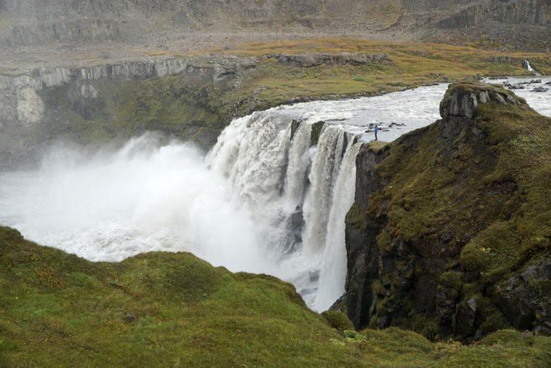 Island Wandern zum Hafragilsfoss