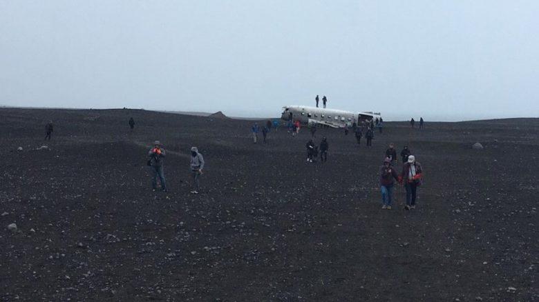 Island Momente Flugzeugwrack