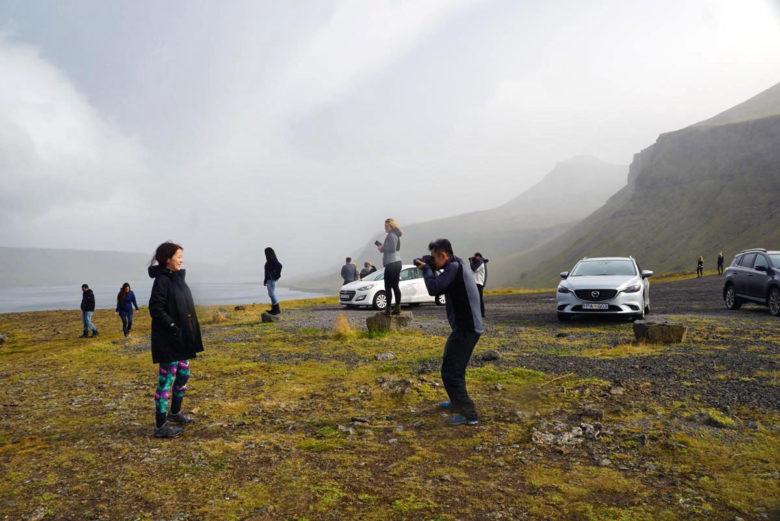 Island Momente Touristen Schnappschuss
