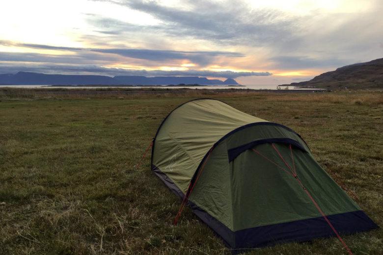 Island Momente Zelten