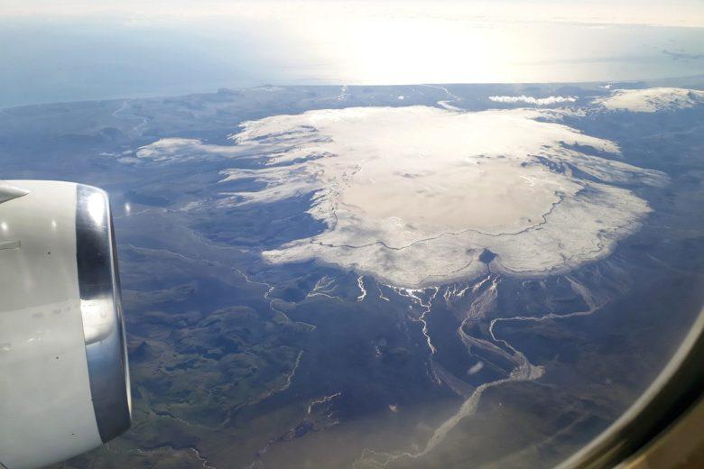 Island - Blick aus dem Flugzeug