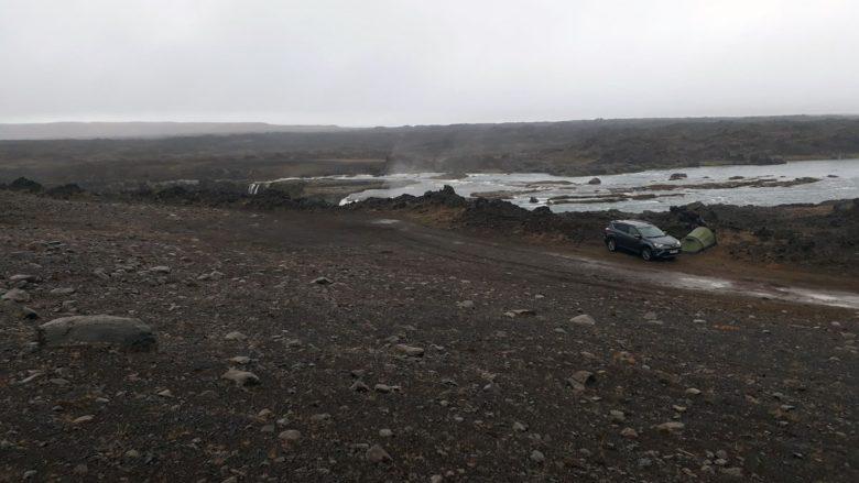 Island Camping am Hrafnarbjargafoss