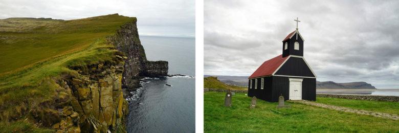 Island Latrabjarg und Raudisandur Kirche