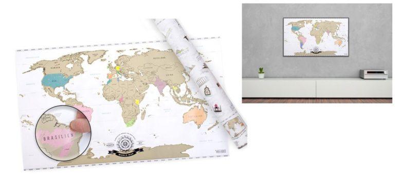 Geschenke Reise - Rubbel Weltkarte