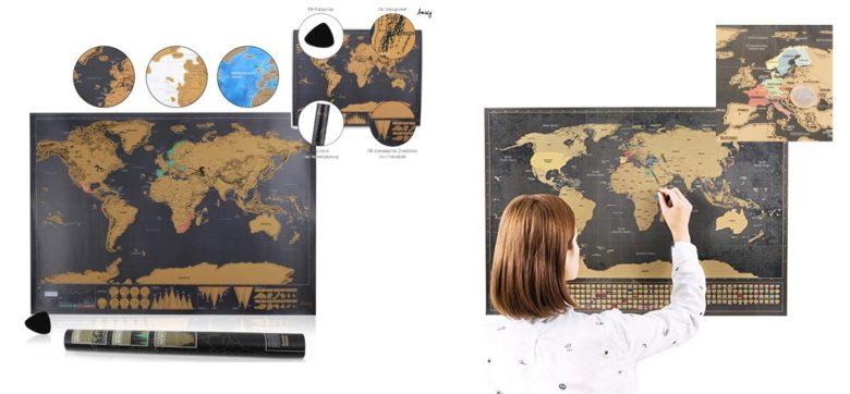 Geschenke Reise - Rubbel Weltkarte Deluxe