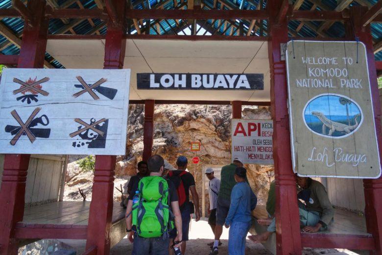 Komodo Nationalpark Eingang