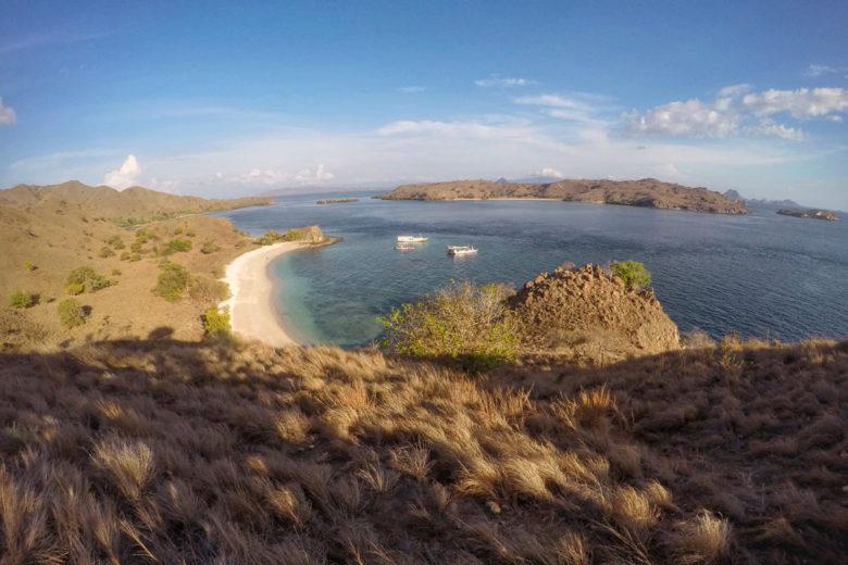 Komodo-Trip Aussicht auf den Pink Beach