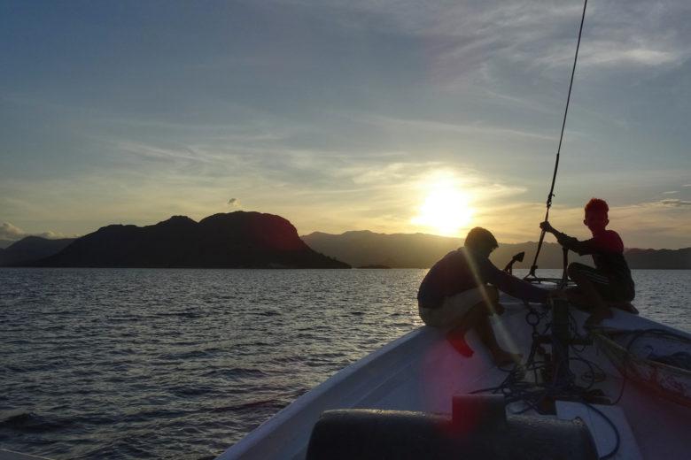 Komodo-Trip Sonnenuntergang
