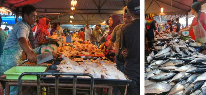 Kota Kinabalu Fischmarkt