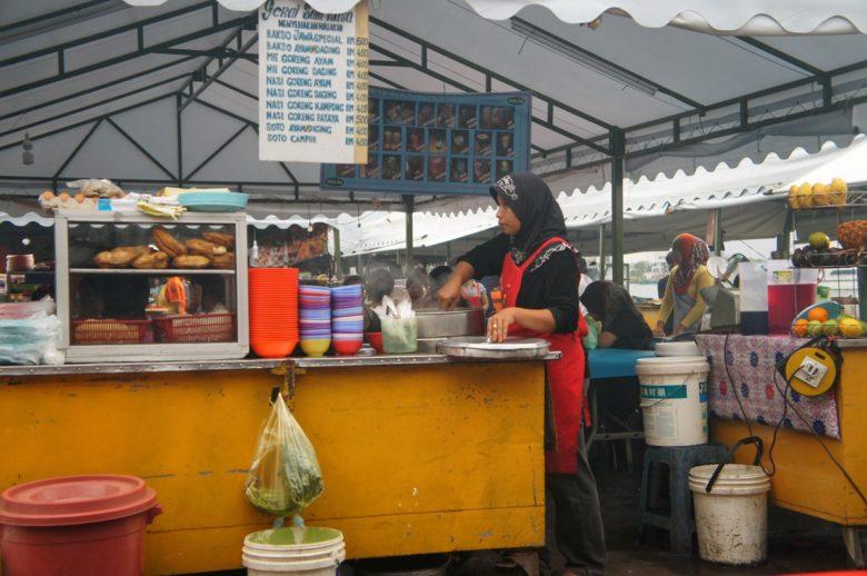 Food Market in Kota Kinabalu