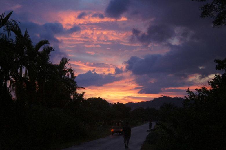 Mulu Nationalpark Sonnenuntergang