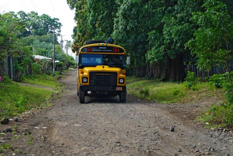 Bus von Merida nach Moyogalpa auf Ometepe