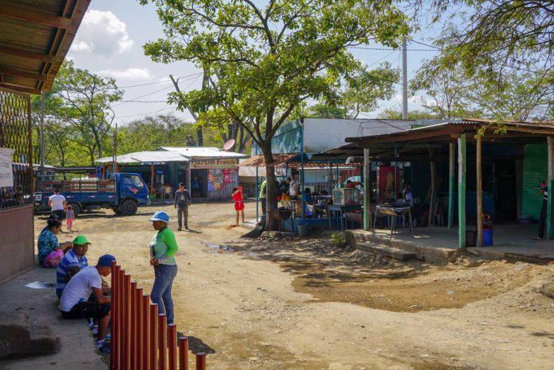 An der Grenze von Nicaragua