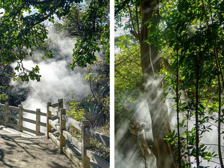 dampfender Vulkan im Rincon de la Vieja NP