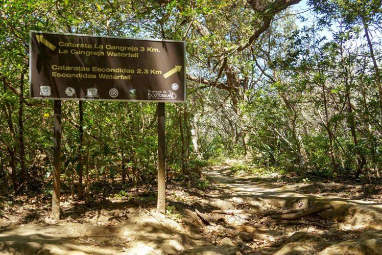 Wanderweg zum La Cangreja Wasserfall