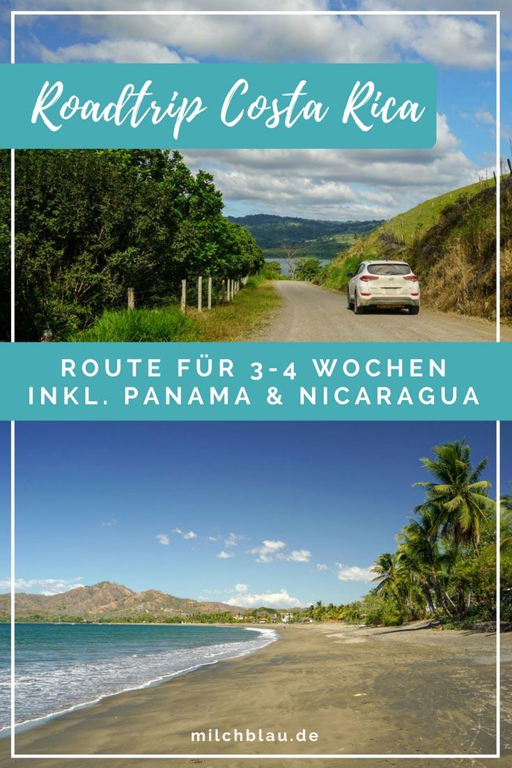 Die ideale Route für einen Roadtrip durch Panama, Costa Rica und Nicaragua in 3-4 Wochen.