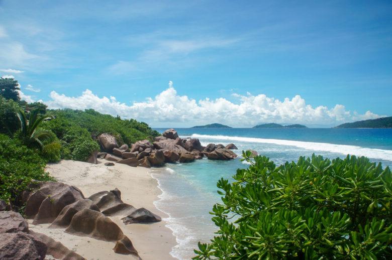 Strand La Digue - Seychellen Inselhopping
