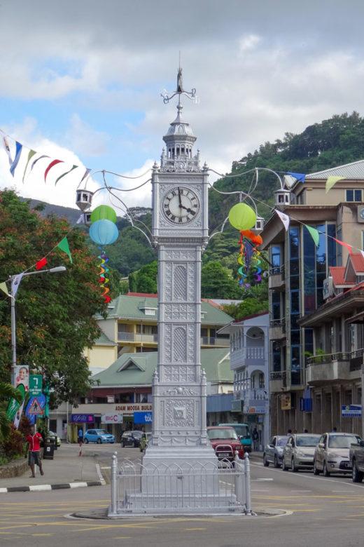 Victoria Clock Tower Mahé Seychellen
