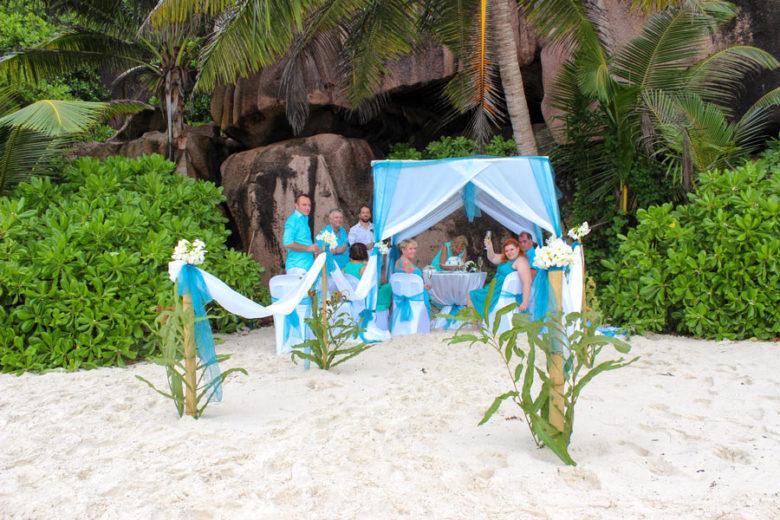 Heiraten Seychellen_Hochzeits-Pavillon