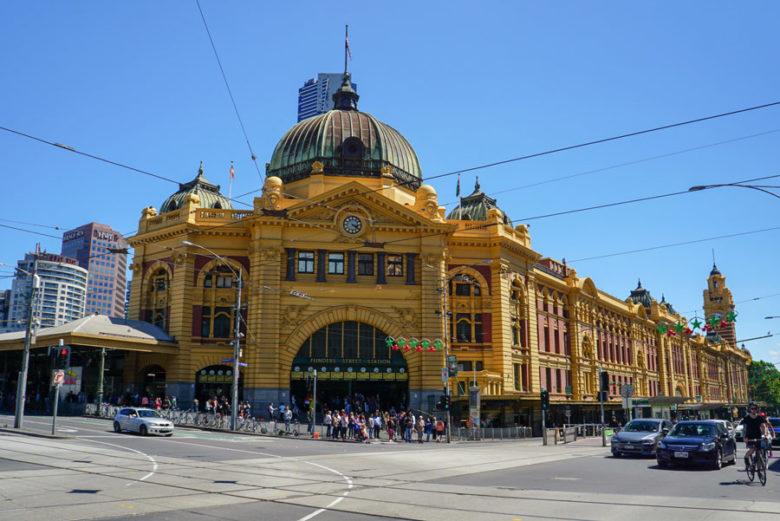 Flinders Street Station Melbourne Australien