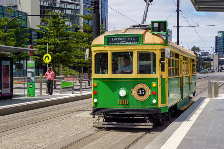 City Circle Tram - Melbourne Australien Sehenswürdigkeit