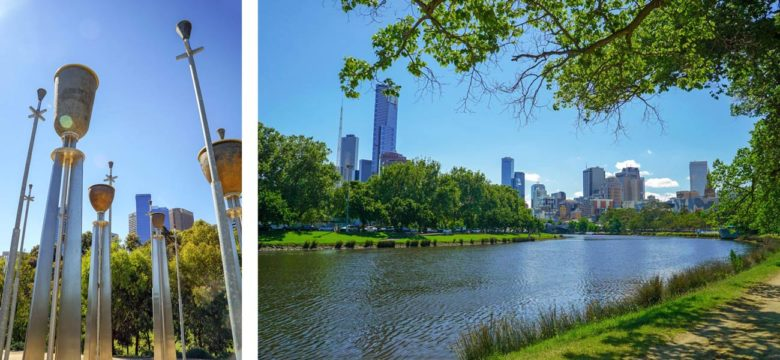 Melbourne - Federation Bells und Yarra River