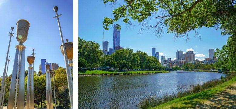 Melbourne - Federation Bells und Yarra River