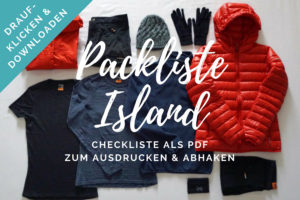 Packliste Island PDF Checkliste zum Download