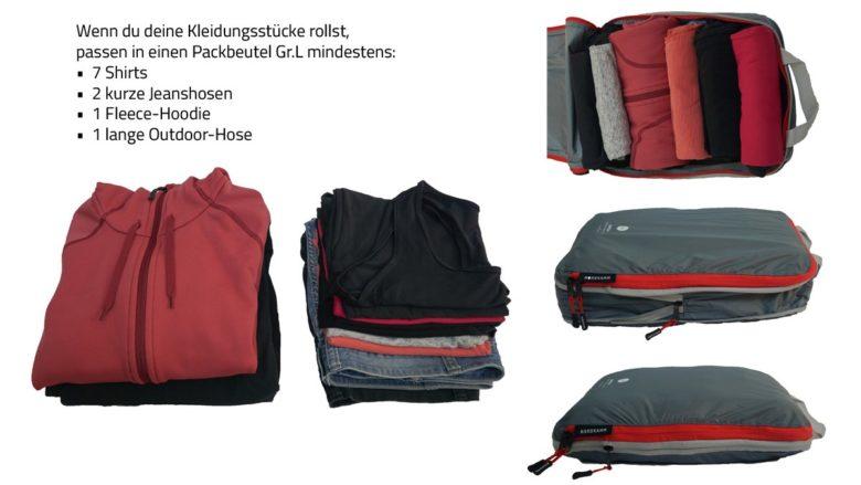 Packliste Kleidung in Packbeutel