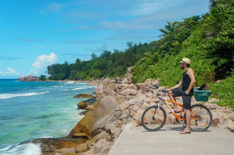 Fahrradtour La Digue Seychellen