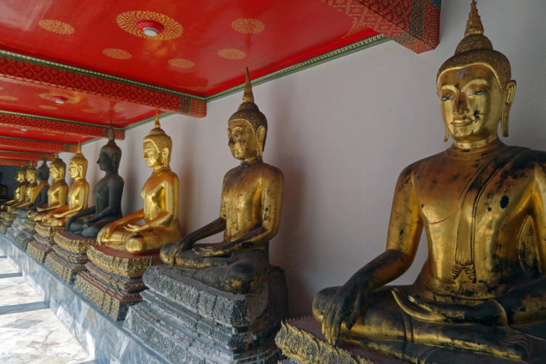 Bangkok Highlight Wat Pho goldene Buddhas
