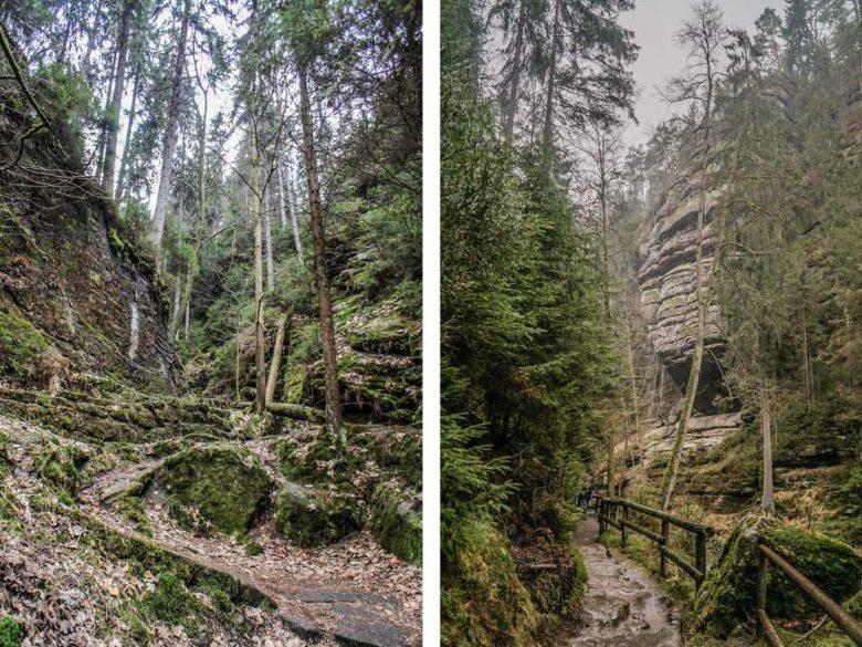 Böhmischen Schweiz Wilde Klamm wandern