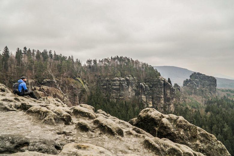 Breite Kluft Elbsandsteingebirge