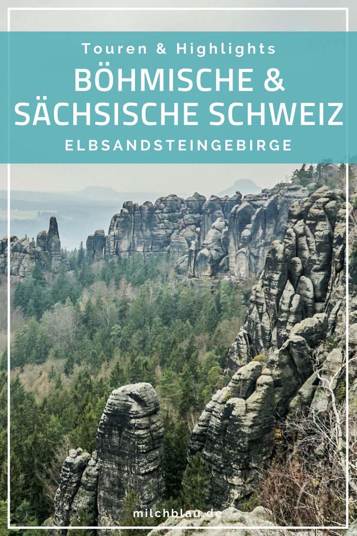 Highlights & Touren im Elbsandsteingebirge. Vier schöne Wanderungen in der Sächsischen Schweiz und Böhmischen Schweiz.
