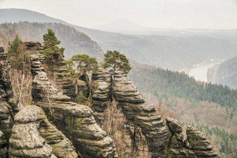 Sächsische Schweiz Ausblicke Wandern